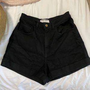 COPY - American Apparel high waisted black shorts